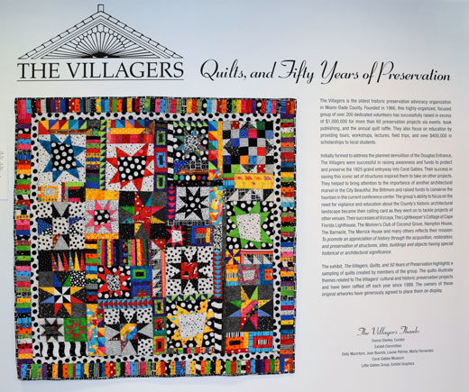Coral Gables Museum Exhibit: The Villagers Quilts and 50 Years of Preservation