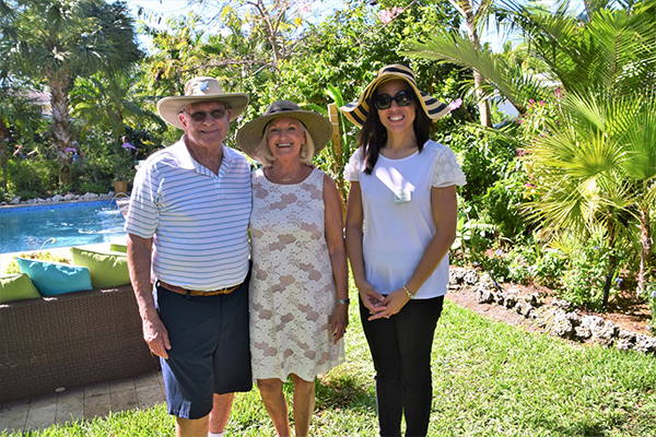 Dr. Terry Reisman, Marcia Resiman and Villager Kathy-Ann Marlin